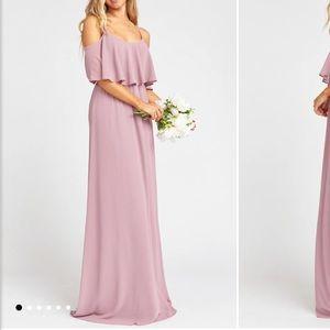 Show Me Your MuMu Caitlin Ruffle Maxi Dress Rose